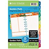 """Day-Timer 2019 Daily Planner Refill, 5-1/2'' x 8-1/2"""", Desk Size 4, Loose Leaf, Two Pages Per Day, Garden Path (13476)"""