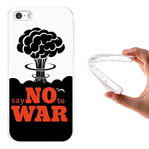 "WoowCase Hülle Case für { iPhone SE iPhone 5 5S } Handy Cover Schutzhülle Satz - ""Say no to war"""