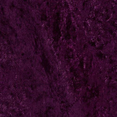 Stretch Panne Velvet Velour Plum Fabric By The Yard (Stretch Fabric Velour)