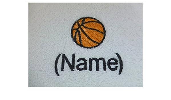 Albornoz con capucha infantil con un baloncesto Logo y nombre de tu elección, edad 4 en color azul.: Amazon.es: Hogar