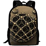 Markui Adult Travel Hiking Laptop Backpack Technology Ball Artwork School Multipurpose Durable Daypacks Zipper Bags Fashion
