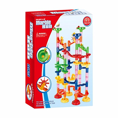 Leegor 29 Piece DIY Rotate Track roll Beads Ball Marble Maze Toy Funny Puzzle Assembled Game Kids Development toys Christmas Gift ()