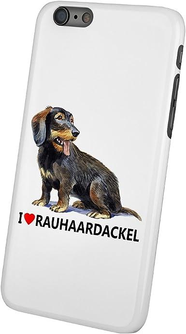 iPhone 6 casco Rauhaardackel - caja del teléfono móvil con perros ...