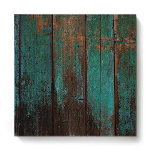 EZON-CH Canvas Wall Art Square Oil Painting Modern Artworks Office Home Decor,Wood Grain Vintage Pattern Canvas Artworks,Stretched by Wooden Frame,Ready to Hang,12 x 12 Inch ()