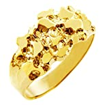 Nugget Rings Men's Gold The Knight Solid Gold (10K) (6)