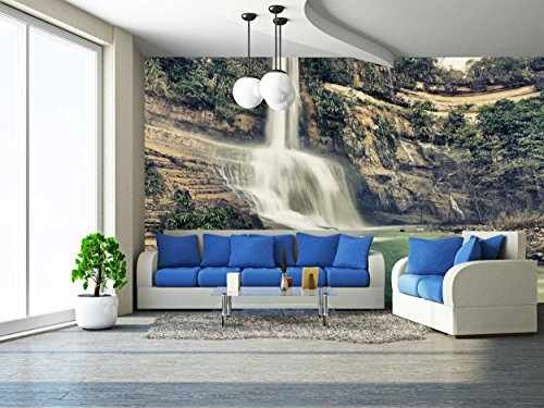wall26 - Beautiful Waterfall Vintage Style. Bohol. Philippines - Removable Wall Mural | Self-adhesive Large Wallpaper - 100x144 - Sunnies Philippines