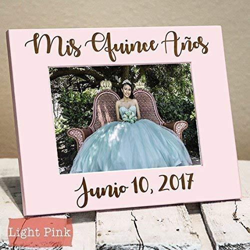 Quinceañera Gift - Quinceañera Picture Frame - Gift for Quinceañera - Quinceañera Decoration - Personalized Picture Frame - Wood Engraved Quinceañera Gift]()