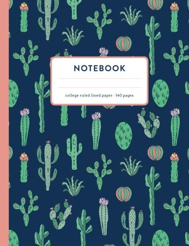8.5 x 11 inch Cactus Notebook Ouch Funny Cactus Journal Notebook 110 Page Composition Book Diary Planner Cactus Lover Gifts