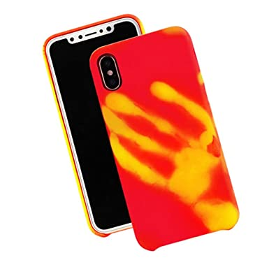 iPhone X Thermal Sensor Physical discoloration Soft Slim Protected Back Case For iPhone X 5.8 Inch
