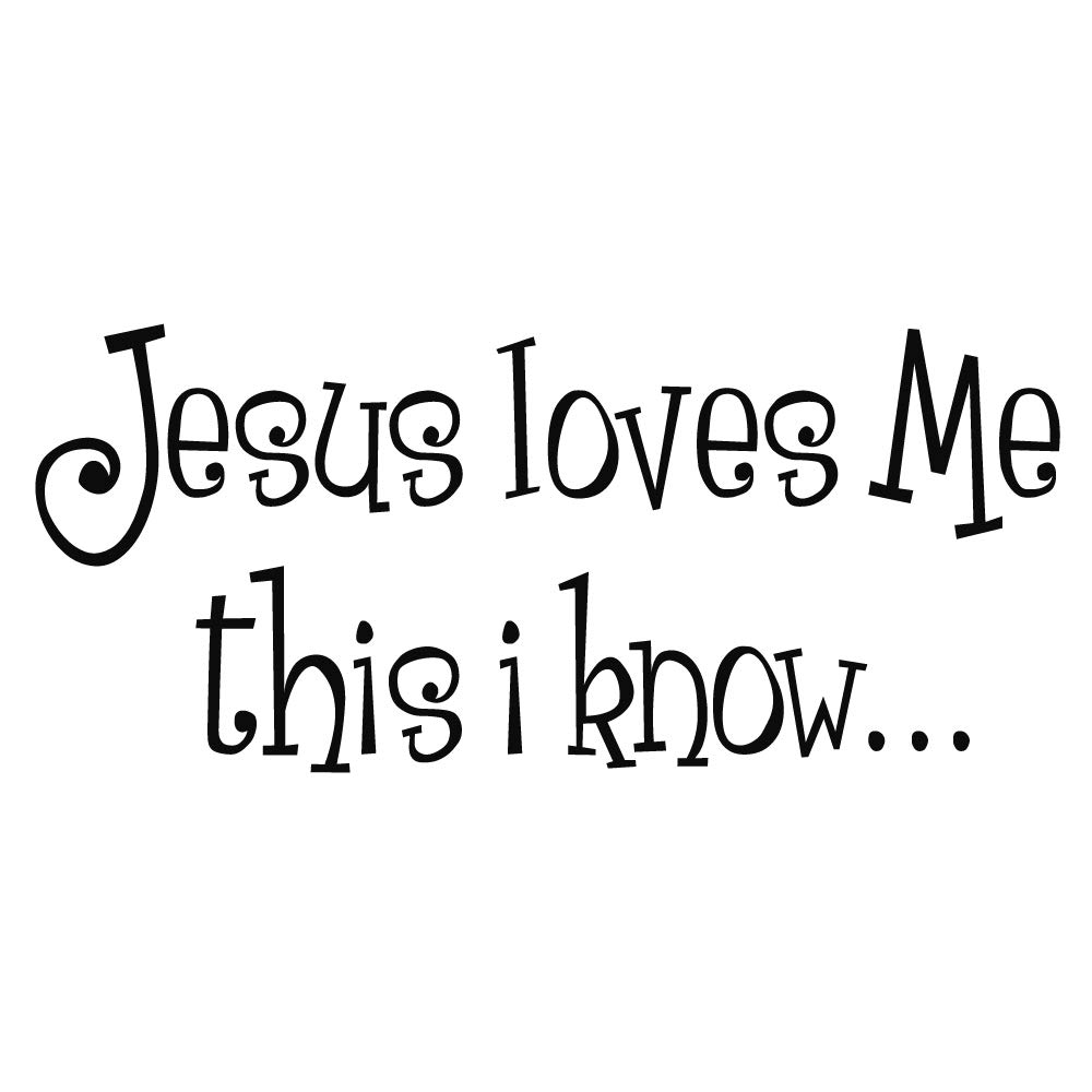 ZSSZ Jesus Loves Me This i Know - Wall Decal Nursery Christian Bible Verse Religious Home Decor Wall Sticker Art Letters
