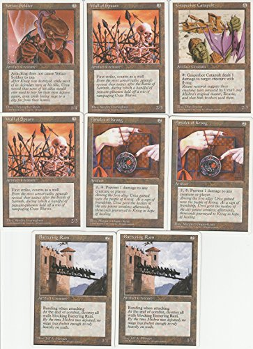 Artifact 4th Edition - Magic the Gathering 4th Edition Artifact 8 Card Lot with Yotian Soldier