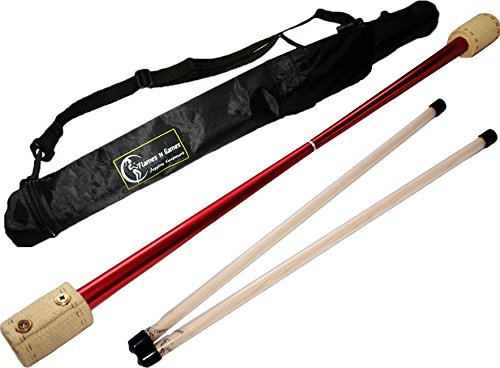 Price comparison product image Falcon FIRE Devil Stick (65mm Wicks) by Fyrefli - for Beginners & Pro's alike! With Wooden (silicone coated) Handsticks, and a Flames N Games devil-stick Travel bag!