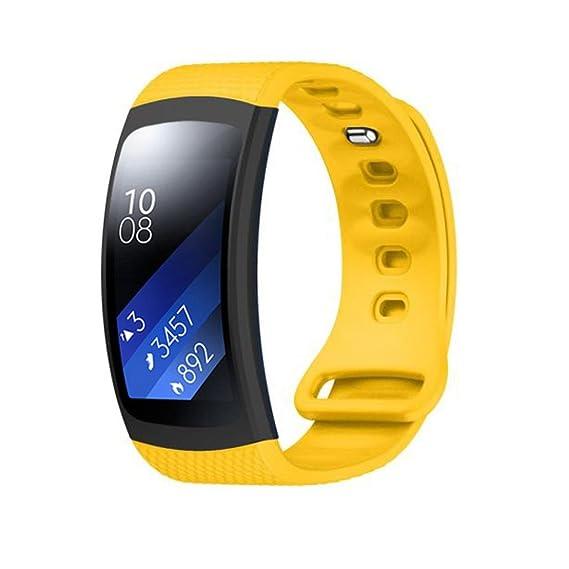 Para Samsung Gear Fit 2 sm-r360, Shensee mujeres lujo silicona reloj correa de
