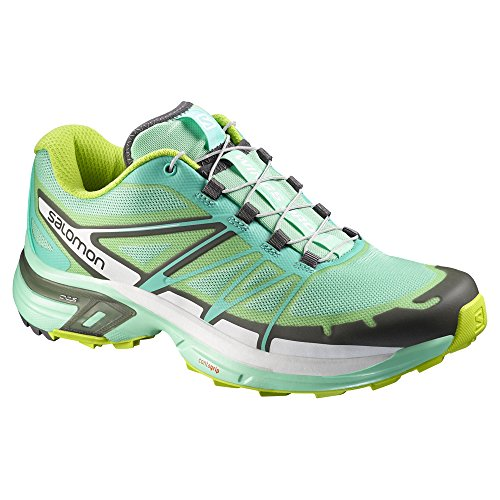 Green Blue Salomon Wings Shoes Running Gecko Bubble Pro Green 2 Women's Lucite Trail U8gTUvqW
