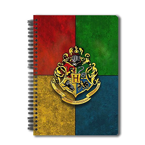 Mc Sid Razz Harry Potter Spiral Notebook of House Crest 3| Multi Subject B5 Size Notebook for Students |Gift Set - Christmas / New years /Birthday gift| Official Licensed by Warner Bros