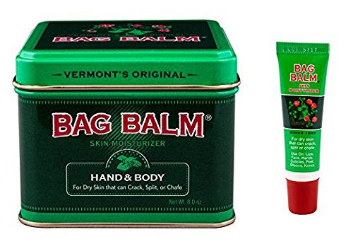 Bag Balm Bundle Animal Tin 8 Oz and On-The-go Tube 0.25 Oz ()