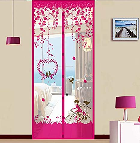 Thermal Magnetic Self-Closing Privacy Door Screen Winter Stop Draft Keep Cold Out Door Cover for Patio AKEFG Insulated Door Curtain Bedroom Kitchen Air Conditioner Room,D,80 * 200cm