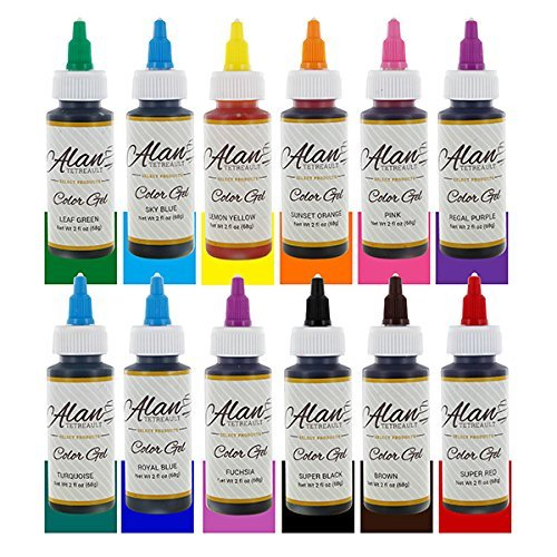 Food Coloring Kit, Premium Professional Twelve Colors 2 Ounce by Global Sugar Art by ALAN TETREAULT SELECT PRODUCTS (Image #3)
