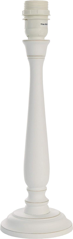 rund Landhausstil Lampenfu/ß aus Holz H/öhe 37cm kalkwei/ß E27 //Energieklasse A++ bisE