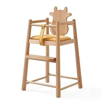 ZXWDIAN Silla alta de bebé Silla de bebé de madera maciza - mesa y ...
