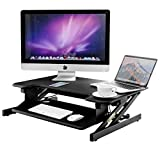 Tangkula Free Standing Desk Height Adjustable Computer Workstation with Removable Keyboard Tray Portable Adjustable Sit-to-Stand Desk 32'' Desktop Home Office Computer Desk, Black