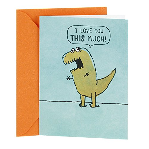 Hallmark Shoebox Funny Love Card, Anniversary Card, Birthday Card, Father's Day Card, Mother's Day Card (T Rex Arms) ()