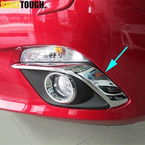 - Exterior Parts For Mazda 3 Bm Axela 2014 2015 2016 Chrome Front Fog Light Lamp Cover Trim Foglight Garnish Strip Bumper Eyebrow Eyelid Molding
