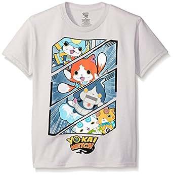 Yo Kai Big Boys' Short Sleeve T-Shirt Shirt, Silver, Small/8