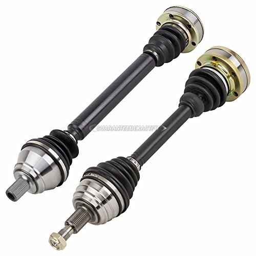 BuyAutoParts Pair Front CV Axle Shaft For Audi TT Quattro 2000 2001 2002 90-902022D New (Tt Audi Drive Axle)