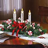 Candy Cane Flameless Candle Holiday Centerpiece