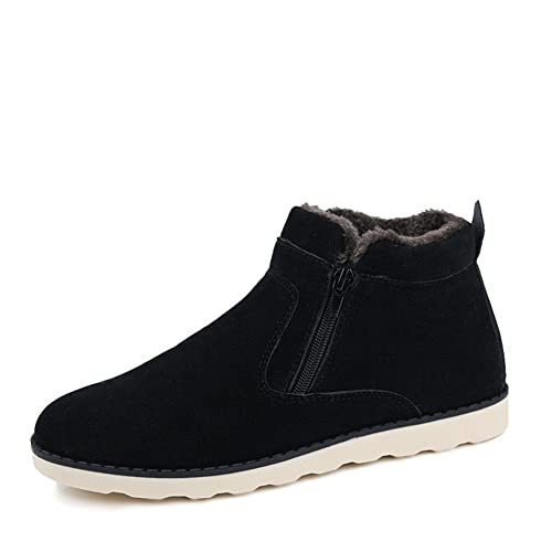 6be1f2dfc8aa2 Amazon.com | Leader Show Men's Winter Fur Lined Snow Boot Side ...