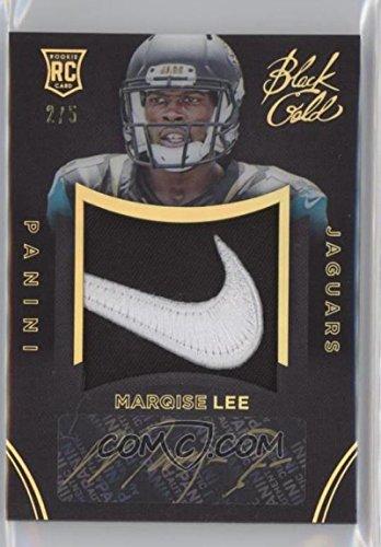Football NFL 2014 Black Rookie Team Symbols Black Gold #11 Marqise Lee RC Rookie MEM 2/5 Jaguars by Panini
