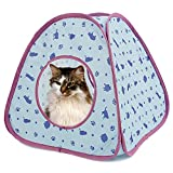 PAWZ Road Cat Tent Bed For Small and Medium Animals Blue & Purple