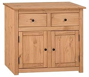 mercers furniture Mueble con 2 Puertas y 2 cajones, Panama, Madera, Cera Antigua, Dimensions (L*W*H): 93 x 41 x 80 cm