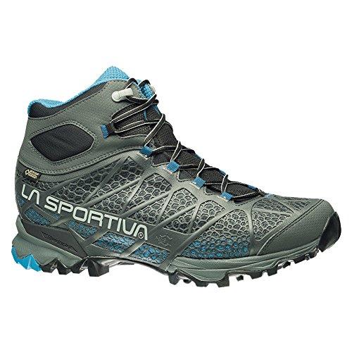 Mens Core Race (La Sportiva Men's Core High GTX Trail Hiking Boot, Carbon/Blue, 43.5 M EU)