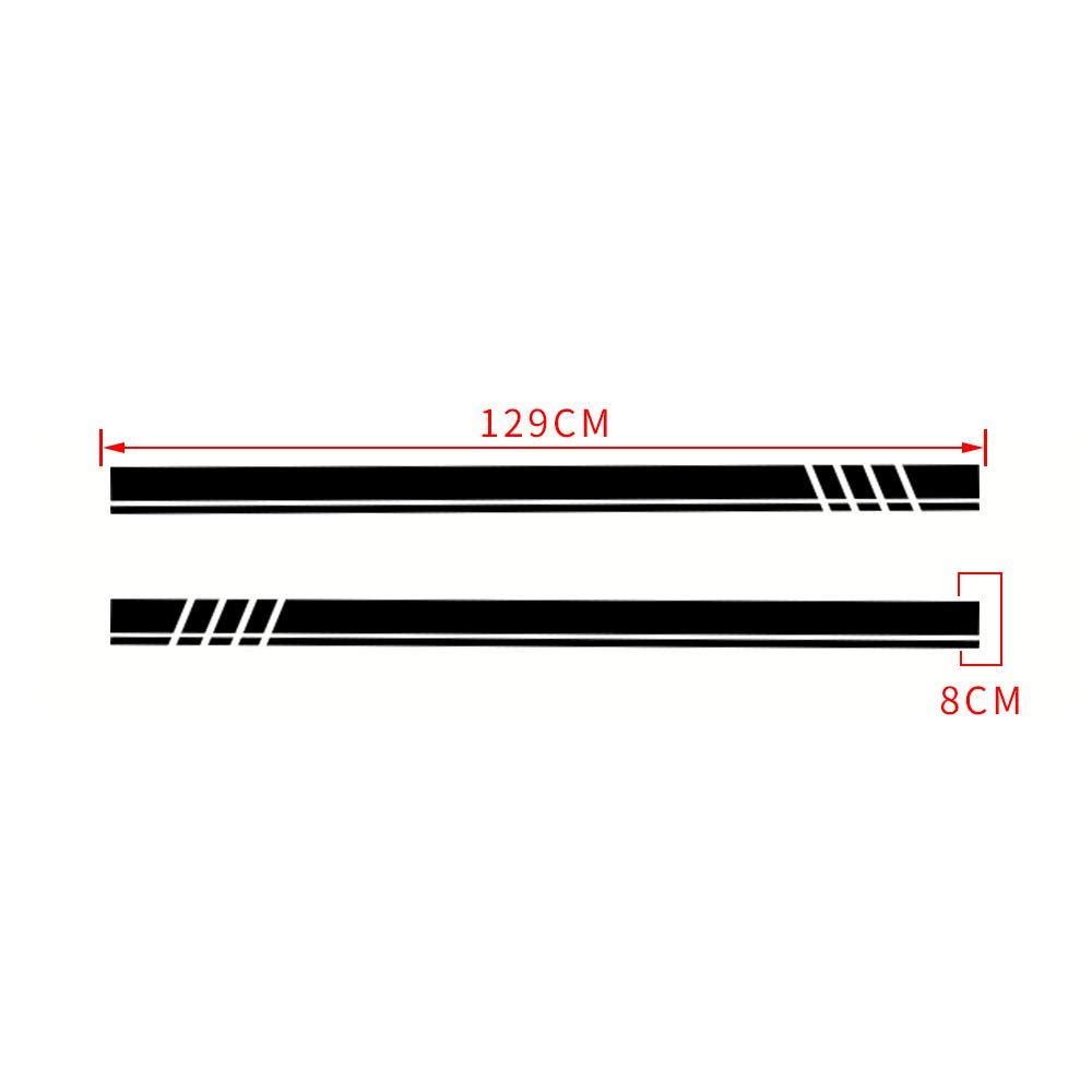 ALLYARD for Toyota AYGO Universal Car Body Door Side Decoration Decal Bumper Stripe Skirt Sticker 1309cm red