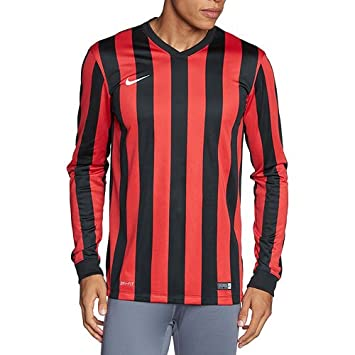 9846add88a2 Nike Men s Striped Division Long Sleeve Top - Black University Red Black  White