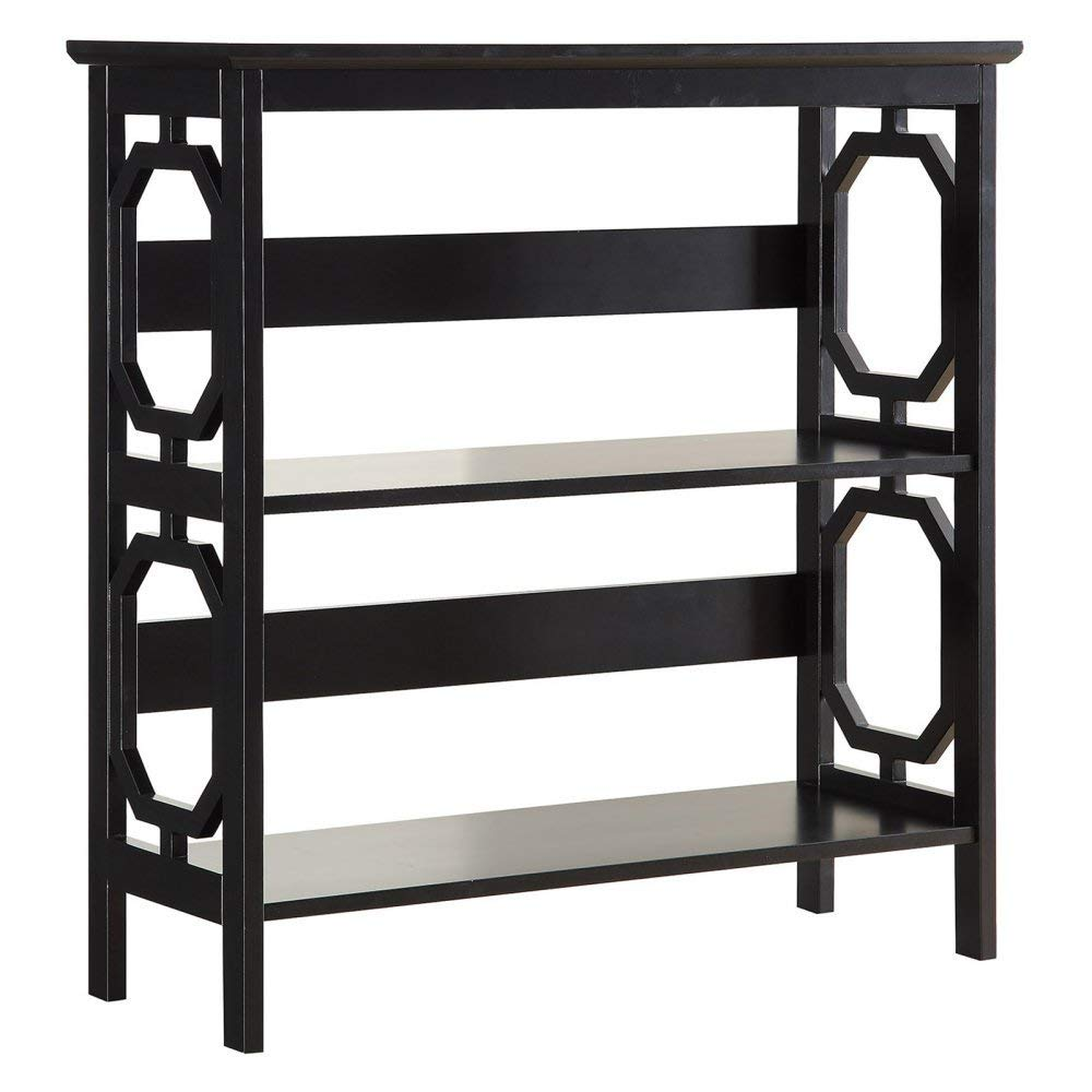Convenience Concepts Omega 3-Tier Bookcase, Black by Convenience Concepts