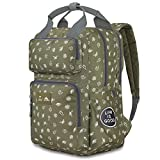 High Sierra Life is Good Mindie Backpack - Travel Laptop Backpack - Great for Students or Professionals - Fits Most 15-inch Laptop Models, Fatigue Green/Slate Grey