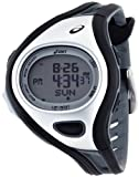 Asics Unisex CQAR0301 Challenge Black and Silver-Tone Digital Running Watch