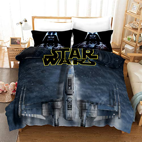 - ZI TENG 3D Star Wars Duvet Cover Set Star Wars Epic Poster Latest Movie Bedding Set 100% Polyester Kids Teenagers Adult Boys Bed Set,3pcs 1 Duvet Cover 2 Pillowcase Twin Full Queen King
