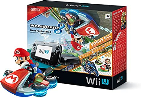 Картинки по запросу Nintendo Black Wii Console With Mario Kart Bundle