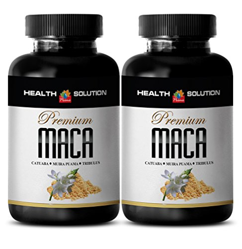increase female libido - MACA PLUS 1300MG - maca extract capsules - 2 Bottles (120 Tablets) by Health Solution Prime