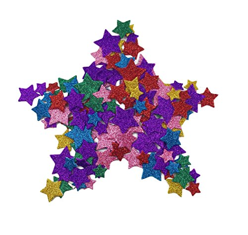Foam Star (Hyamass 6 Packs (Approx 300pcs) Multicolor Self Adhesive Glitter Star Foam Stickers (Star))