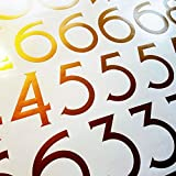 Craftsman Style Die Cut Vinyl Numbers (3 inch Metallic Copper)