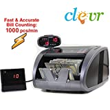 Clevr Premium Bill Counter Fast Heavy Duty Count UV/IR/MG Counterfeit Detection