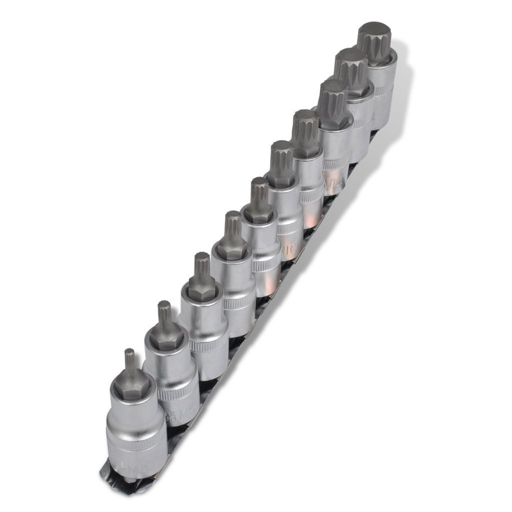 Innen N/ü/ße Steckschl/üsseleins/ätze LARS360 10-tlg Innen 6-kant Inbus Schrauben Werkzeug