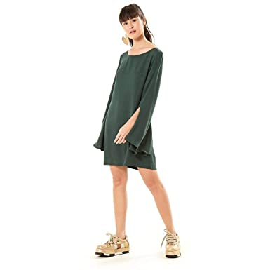 f4634c12a Vestido Manga Longa Fenda Verde Meteoro - G: Amazon.com.br: Amazon Moda