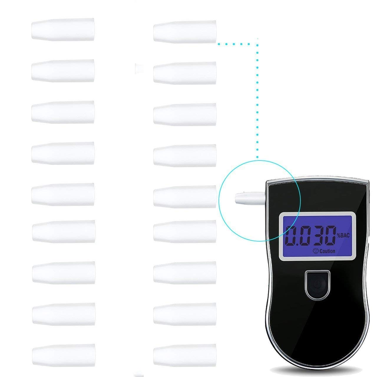 GoKate Replacement Mouth Pieces for New Police Breathalyzer Digital Alcohol Breath Tester