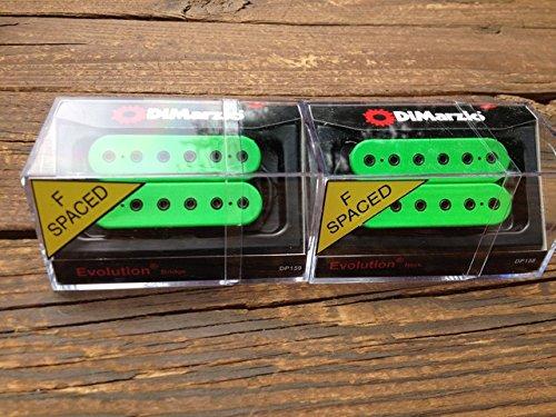 DiMarzio F-spaced Evolution Neck & Bridge Humbucker Set Green DP158GN & DP159FGN